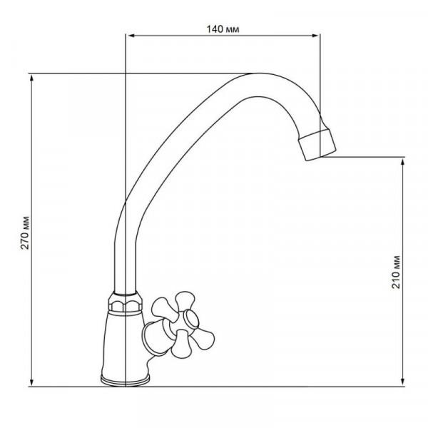 Однокран для кухни GF (CRM)/S-23-269F