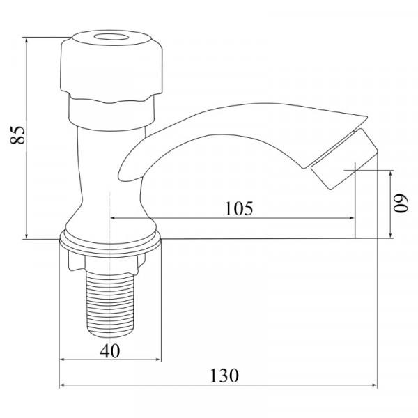 Однокран литой пластиковый Brinex BW 0221