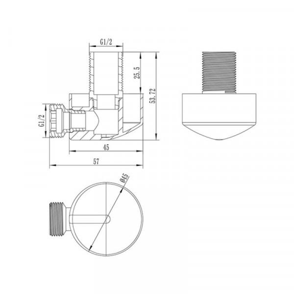 Подключение душевого шланга Qtap 0020 CRM