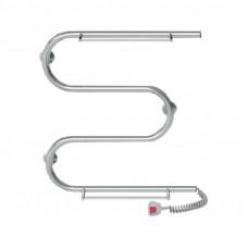 Полотенцесушитель электрический Lidz Snake shelf (CRM) 500x500 RE с полкой
