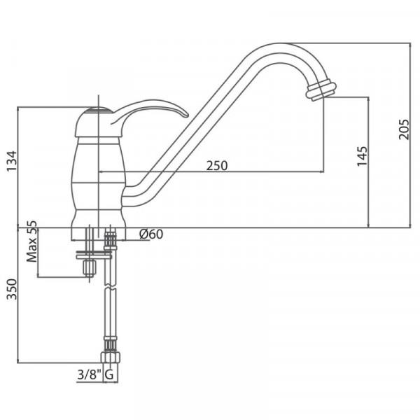 Смеситель для кухни Bianchi Class LVMCLS 20000A CRM