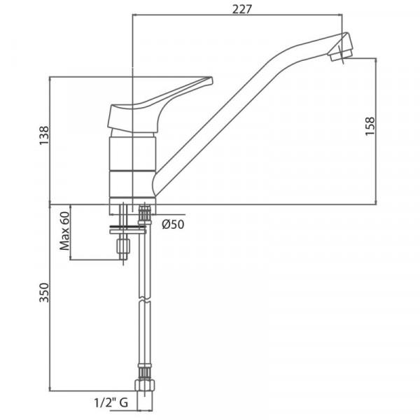 Смеситель для кухни Bianchi Delta LVMSTR 2000DLTA CRM