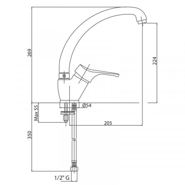 Смеситель для кухни Bianchi Delta LVMSTR 2001DLTA CRM