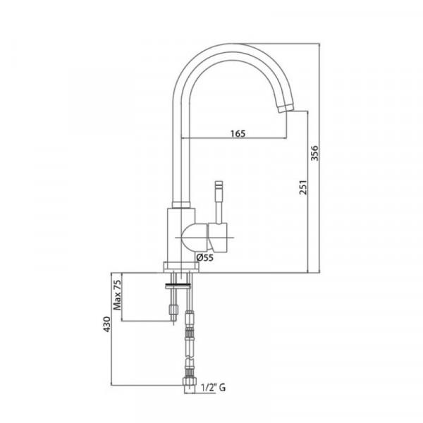 Смеситель для кухни Bianchi Mody LVMMDY 2000A CRM