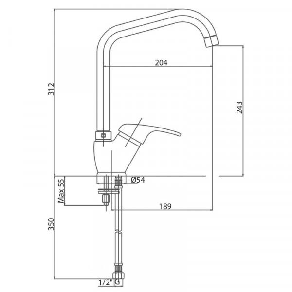 Смеситель для кухни Bianchi Star LVMSTR 2014STRA CRM