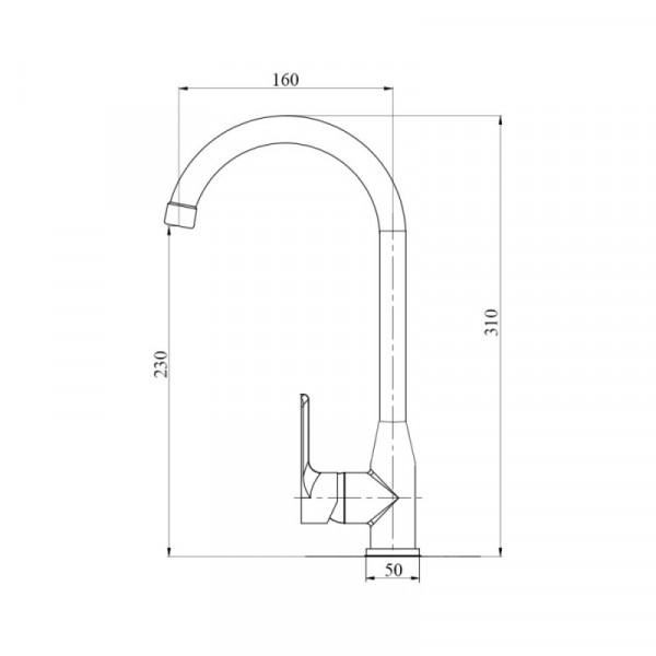 Смеситель для кухни пластиковый Brinex 35C 007