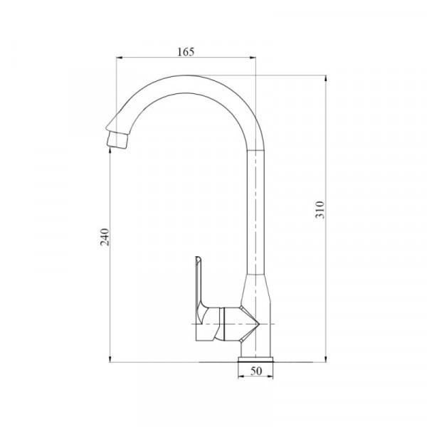 Смеситель для кухни пластиковый Brinex 35W 007