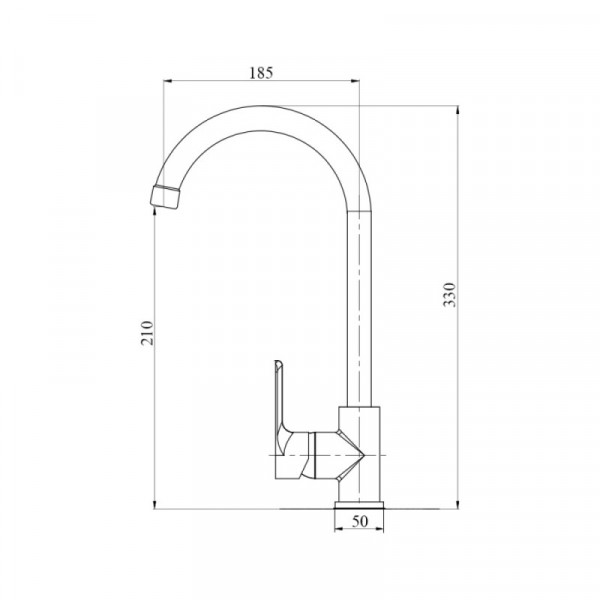 Смеситель для кухни пластиковый Brinex 40C 007