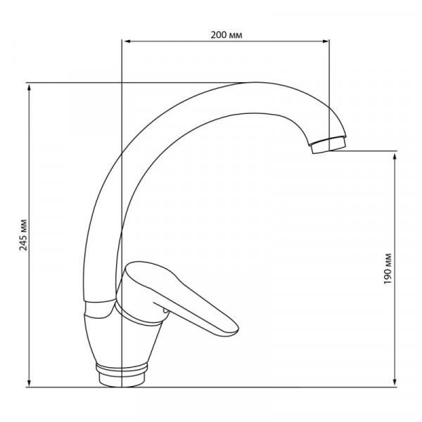 Смеситель для кухни Cosh (CRM)/S-01-008F