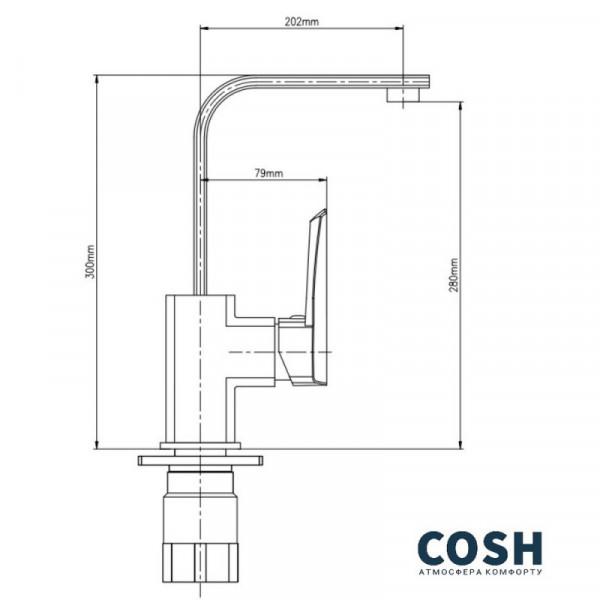 Смеситель для кухни Cosh (CRM)/S-09-007F