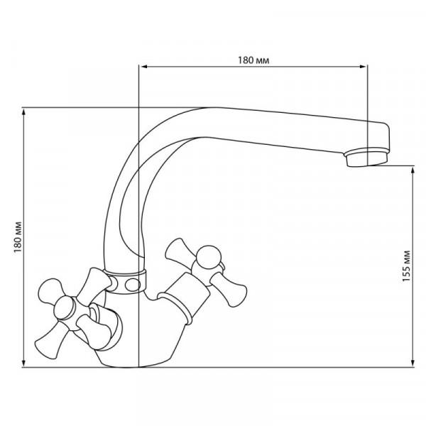 Смеситель для кухни Cosh (CRM)/S-21-276F