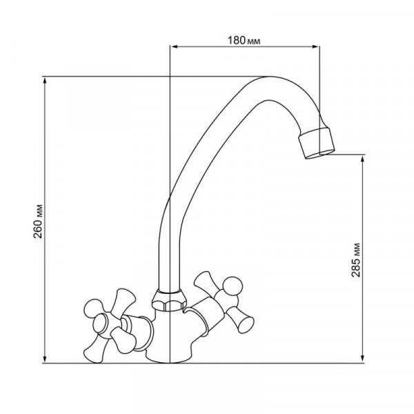 Смеситель для кухни GF (ANT)/S-21-271F