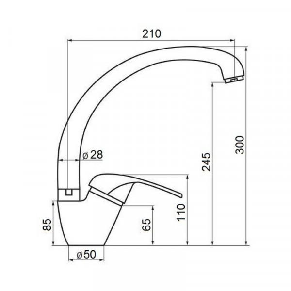 Смеситель для кухни GF (BLA)/S-03-012F