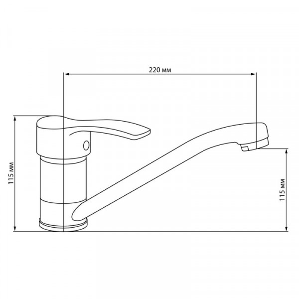 Смеситель для кухни GF (CRM)/S-01-002