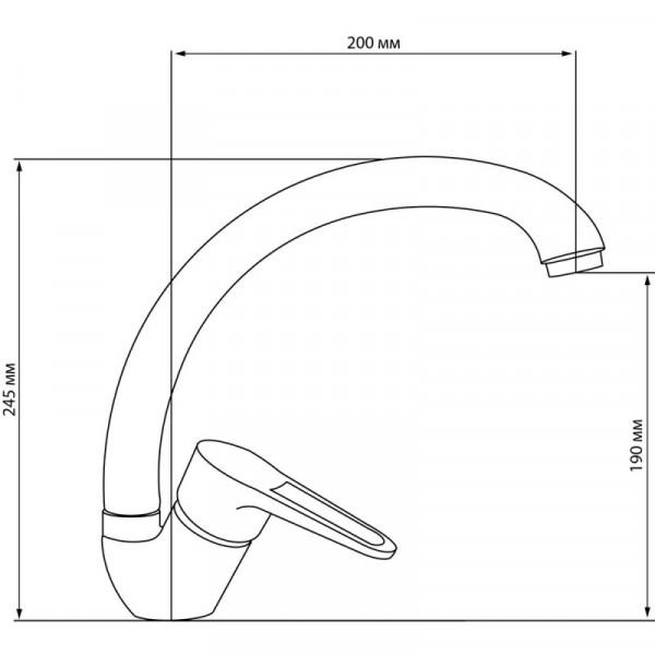 Смеситель для кухни GF (CRM)/S-02-008F