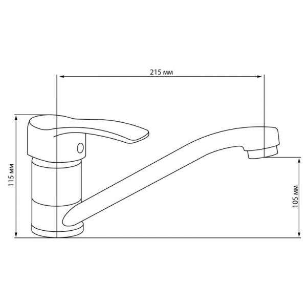 Смеситель для кухни GF (CRM)/S-03-003