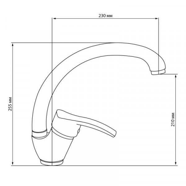 Смеситель для кухни GF (CRM)/S-03-008F