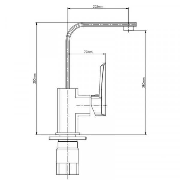 Смеситель для кухни GF (CRM)/S-09-007F