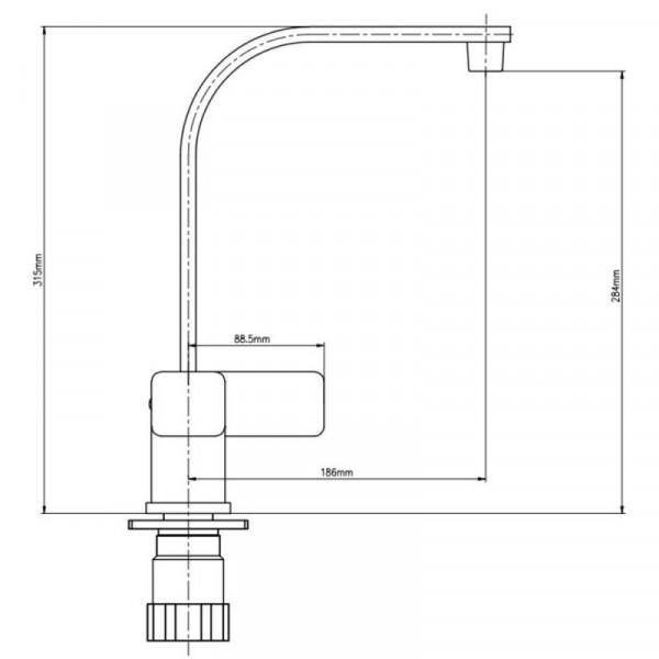 Смеситель для кухни GF (CRM)/S-10-007F