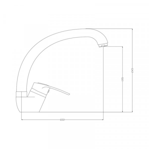 Смеситель для кухни GF (CRM)/S-13-008F
