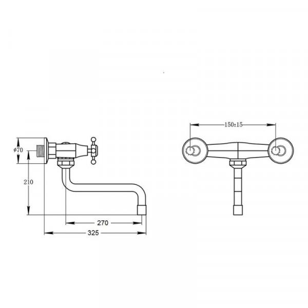 Смеситель для кухни GF (CRM)/S-21-361S