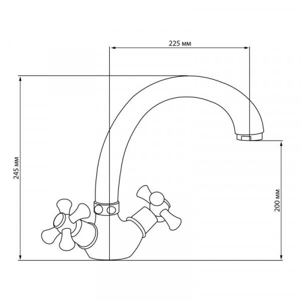 Смеситель для кухни GF (CRM)/S-22-273F