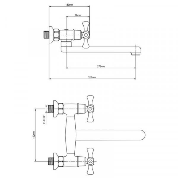 Смеситель для кухни GF (CRM)/S-22-361