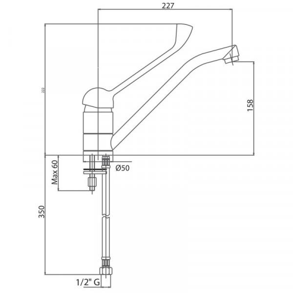 Смеситель для кухни локтевой Bianchi Star LVMSTR 2000SANA CRM