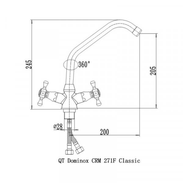 Смеситель для кухни Qtap Dominox CRM 271F