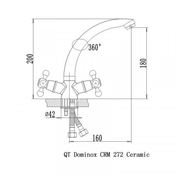 Смеситель для кухни Qtap Dominox CRM 272