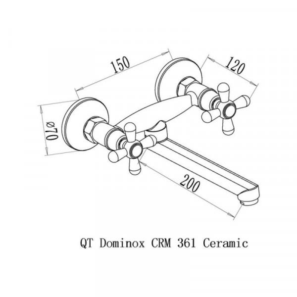 Смеситель для кухни Qtap Dominox CRM 361