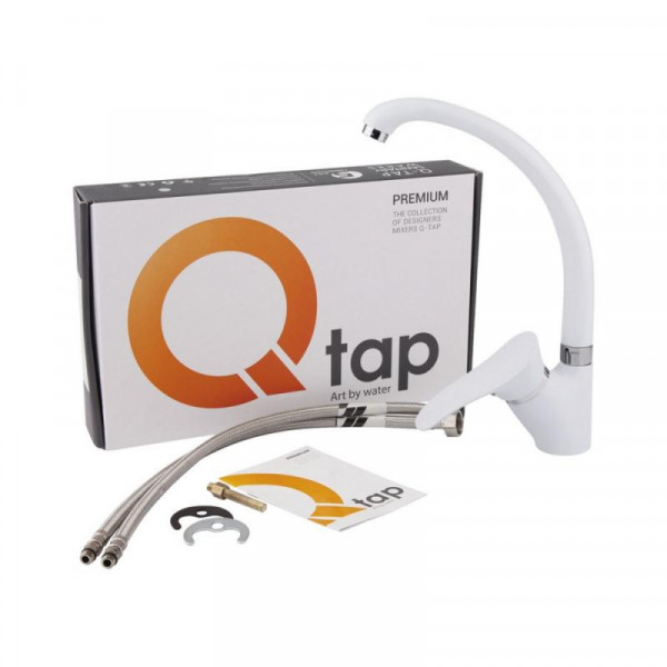 Смеситель для кухни Qtap Eris WHI 007