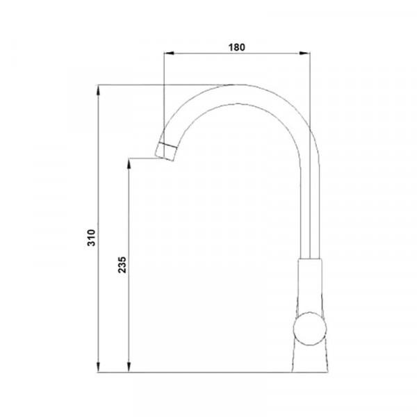 Смеситель для кухни Qtap FormCRM007F-1
