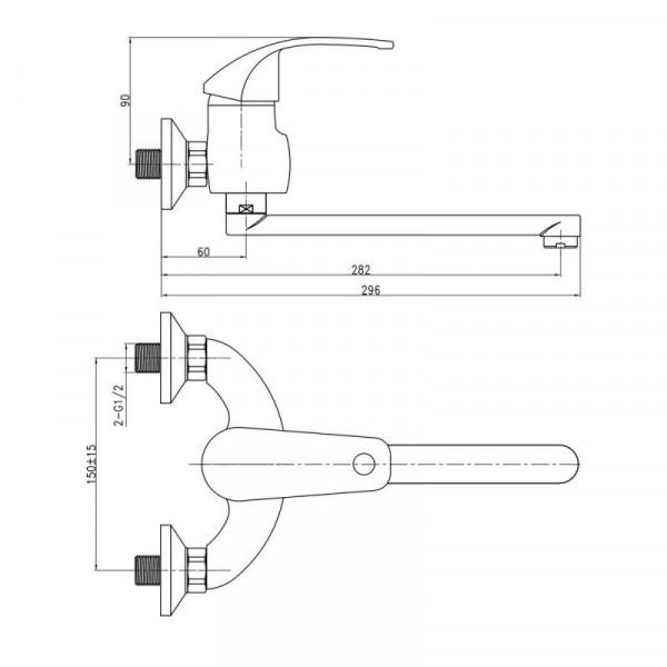 Смеситель для кухни Qtap Mars СRM 009