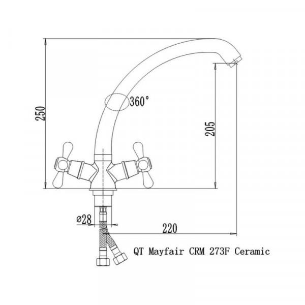 Смеситель для кухни Qtap Mayfair CRM 273F