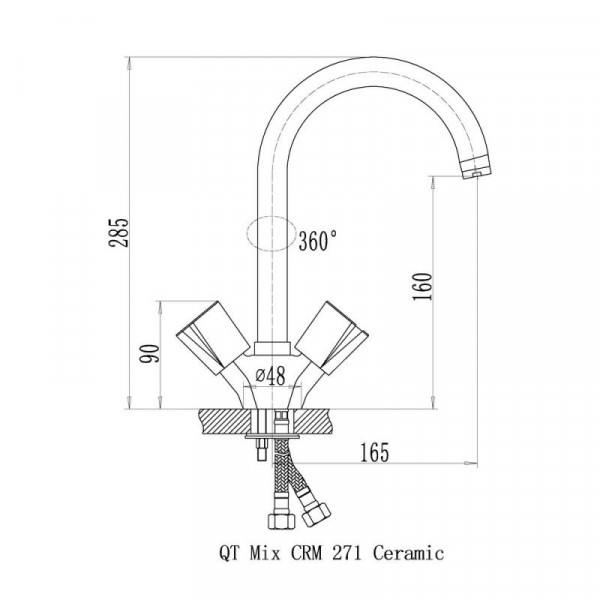 Смеситель для кухни Qtap Mix CRM 278