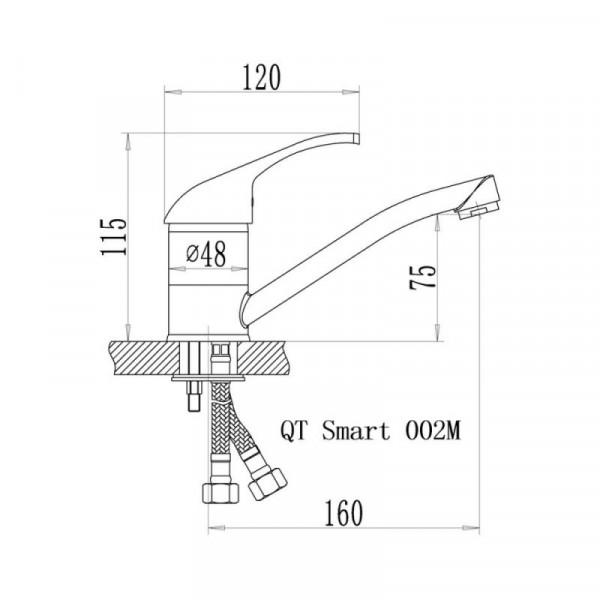 Смеситель для кухни Qtap Smart CRM 002M
