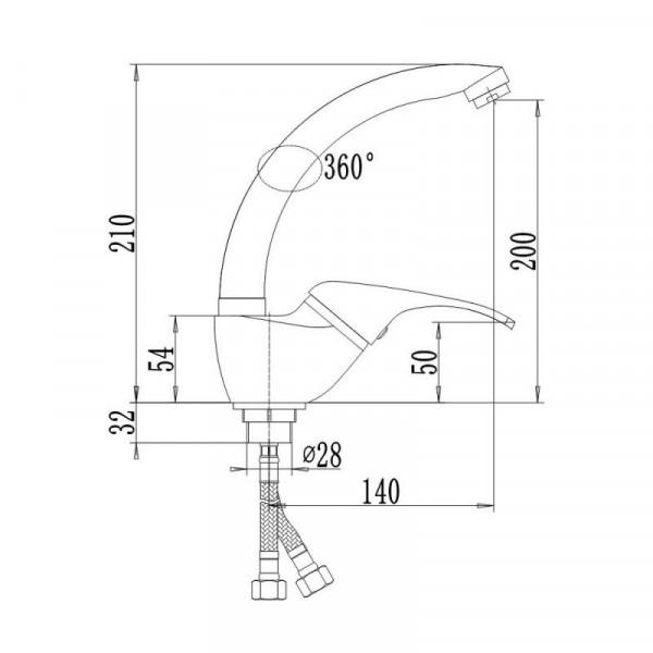 Смеситель для кухни Qtap Smart CRM 008F-1