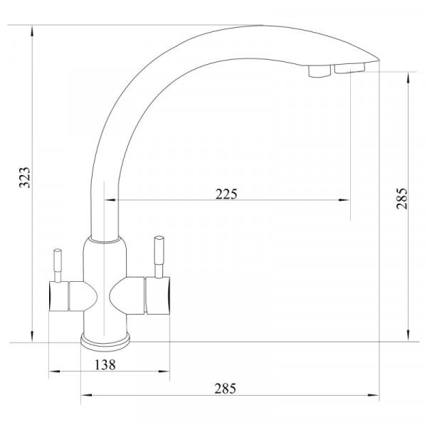 Смеситель для кухни с подключением фильтра Imperial31-013-11