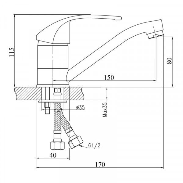 Смеситель для кухни Touch-Z Premiera-35 002М