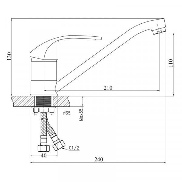 Смеситель для кухни Touch-Z Premiera-35 003