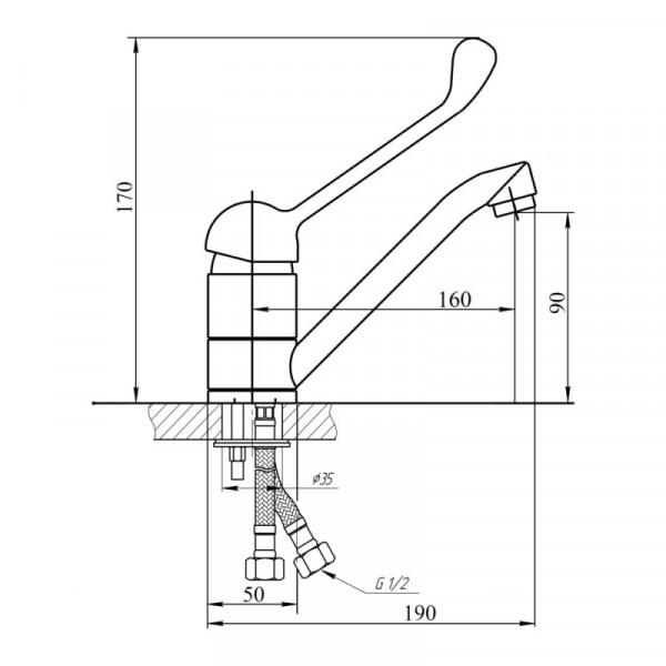 Смеситель для кухни Touch-Z Watt 002М