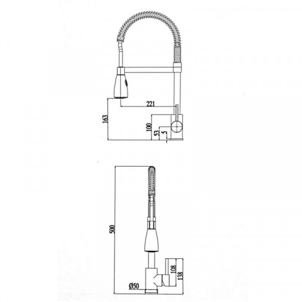 Смеситель для кухни ULA (BW6012A)