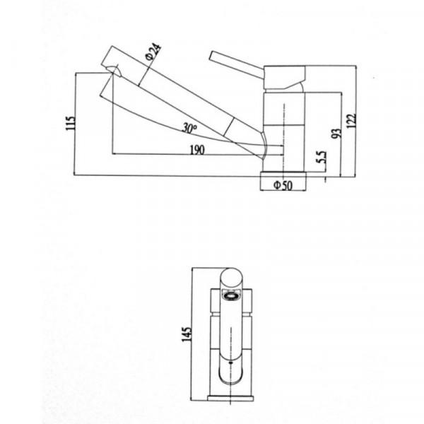 Смеситель для кухни ULA (BW7008)