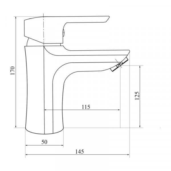 Смеситель для умывальника пластиковый Brinex 35W 001