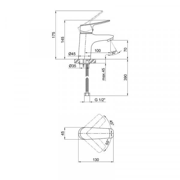 Смеситель для умывальника Qtap Loft CRM 001