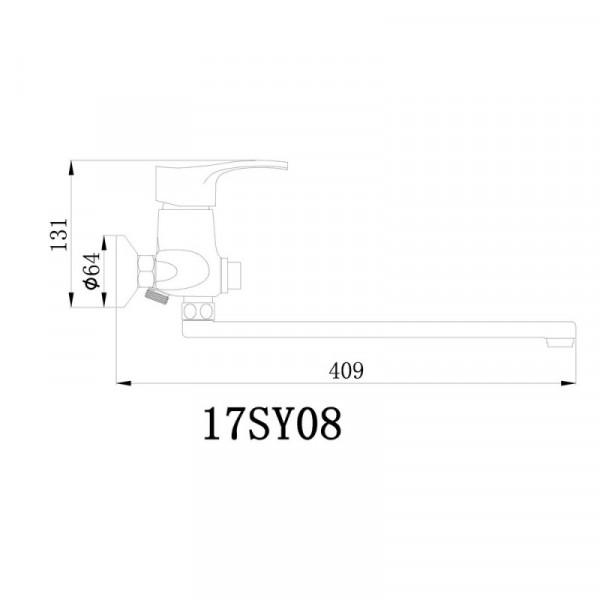 Смеситель для ванны GF (CRM)/S-03-005B