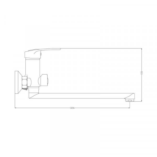 Смеситель для ванны GF (CRM)/S-13-005N