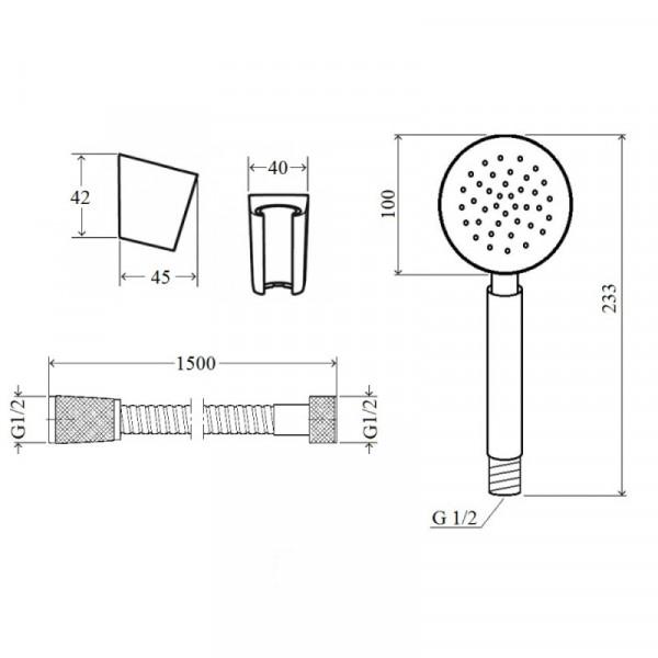 Смеситель для ванны Imperial31-005N-00