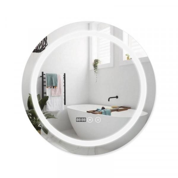 Зеркало с подсветкой и антизапотеванием Qtap Mideya LED DC-F803 600*600